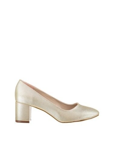 Pembe Potin Ayakkabı Altın